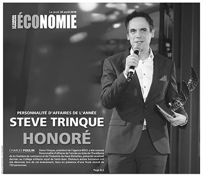 Steve Trinque, personnalité d'affaires de l'année 2018